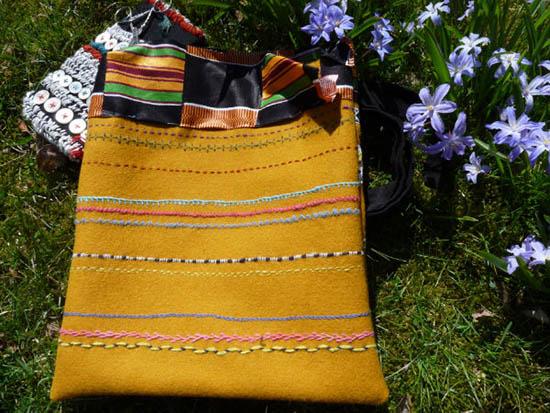 Väskans baksida, foto: Gunilla Hildén