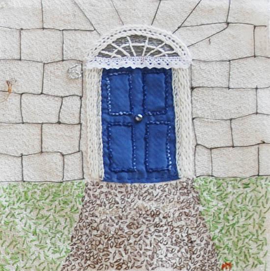 En blå dörr till