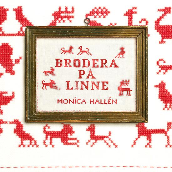 Boken Brodera på linne - omslag