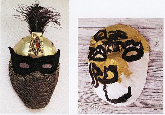 Broderade masker