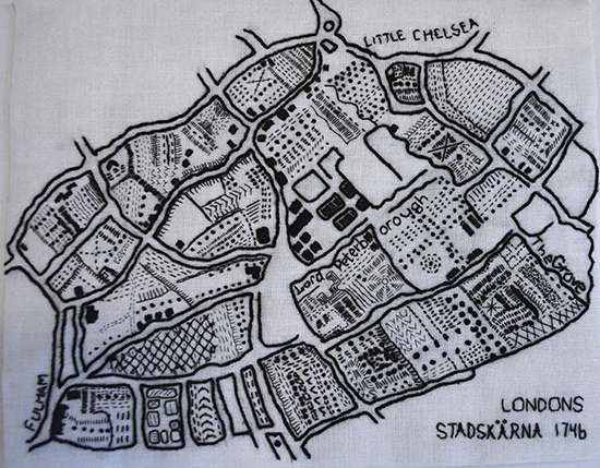 Londons stadskärna 1746