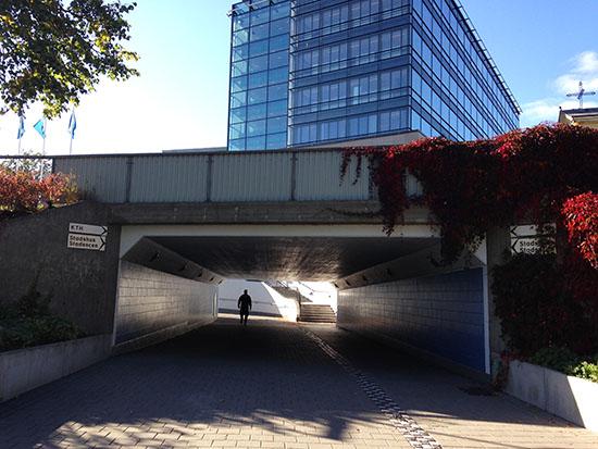 Södertälje Stadshus - tunneln som leder dit.