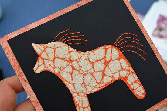 En häst - boderat på papper av Ulla Howding