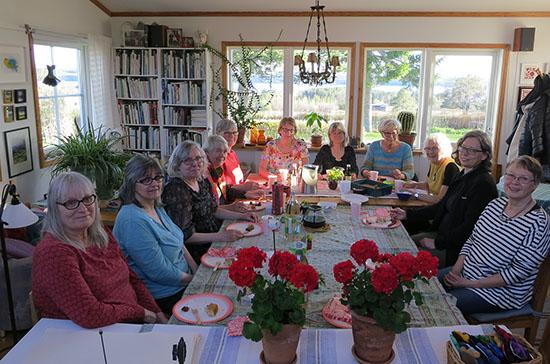 Säsongsavslutning för Handlaget, broderigruppen i Jämtland