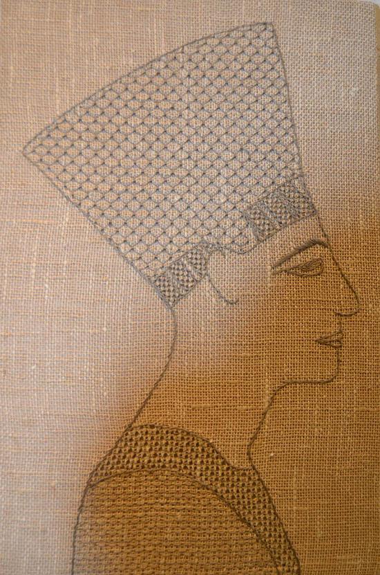 Nefertite i Berlin - fritt broderi