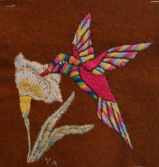 Broderad kolibri