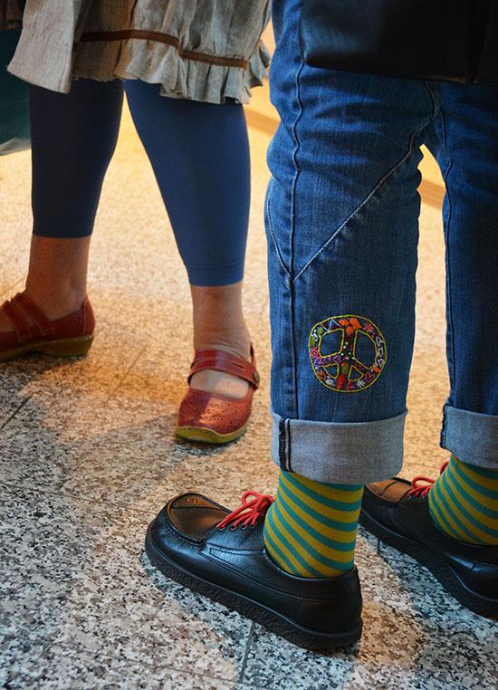 Britt Dahnés broderade jeans