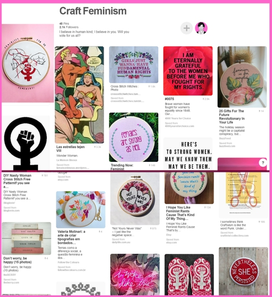 DIY Feminism Pinterest board for craft and creativity, curated by iHanna